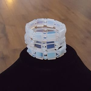 Vintage - Translucent Lucite Bracelets (Set of 3)